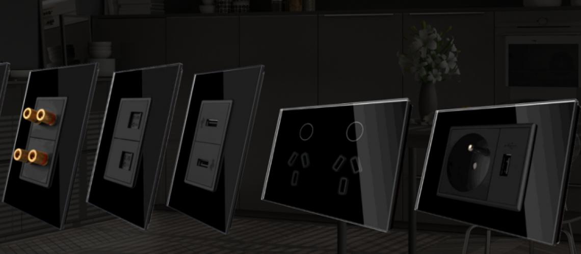 סדרת השקעים  של הומיטק משתלבת במערכת בית חכם ויש להם מראה אחיד ונקי. על מנת להתקין אותם לא צריך לשבור את קירות הבית