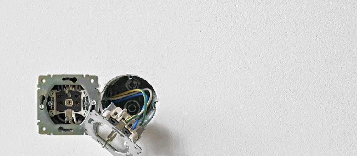 Installing,Or,Mounting,Electrical,Outlets,On,A,Neutral,Light,Gray